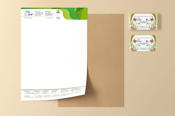 Business cards and letterhead design for IN SPE
