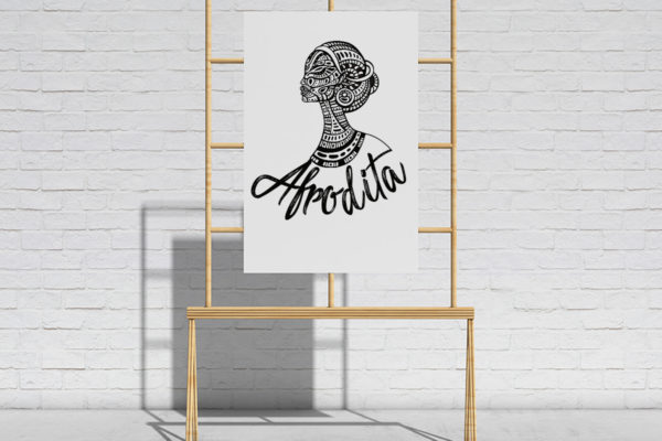 Logo design for beautician Afrodita