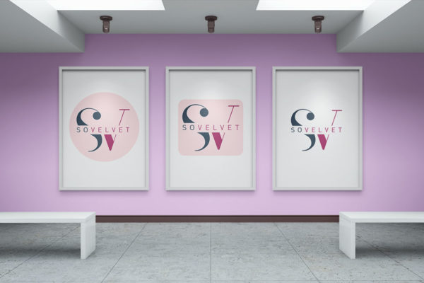 Logo design for cosmetic studio So Velvet