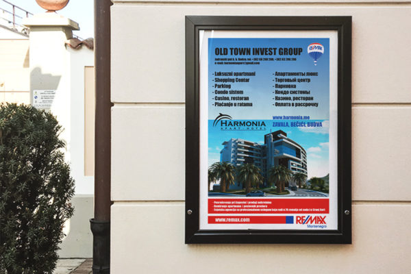 Poster designed for RE/MAX Montenegro