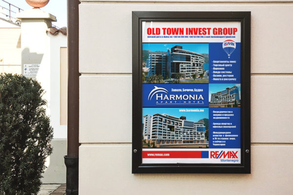 Street ad designed for RE/MAX Montenegro