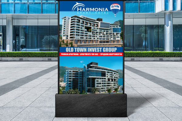 Vertical billboard designed for RE/MAX Montenegro