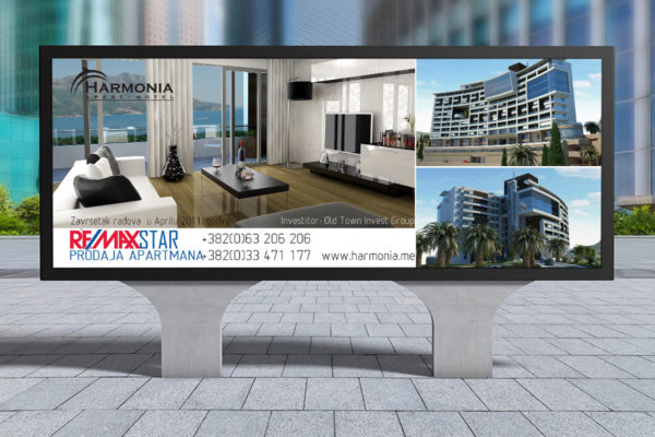 City billboard designed for RE/MAX Star Montenegro