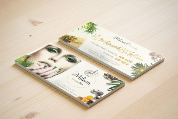 Christmas flyers for Beauty Bar Milena