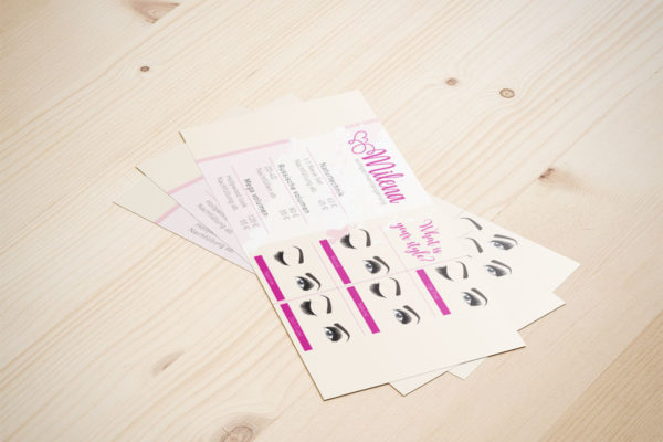Flyers for beauty bar Milena