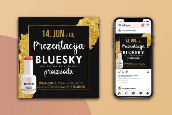 Instagram banner for Bluesky product promotion